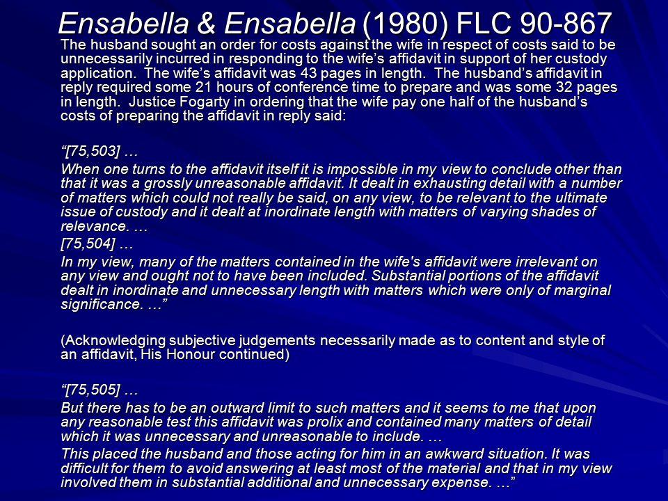 Ensabella & Ensabella (1980) FLC 90-867