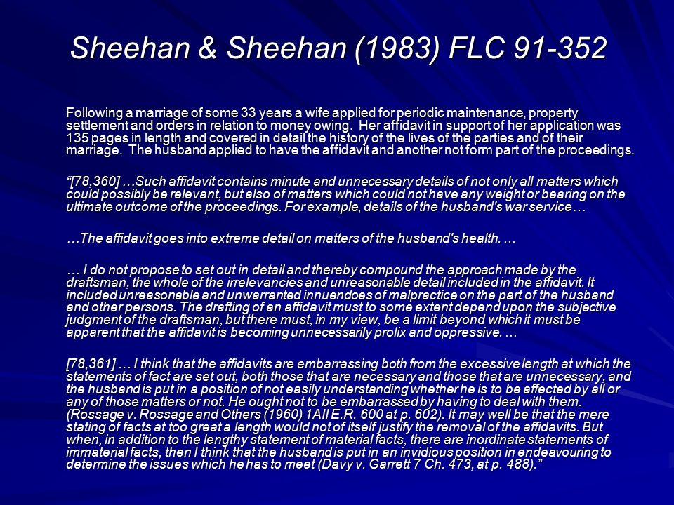 Sheehan & Sheehan (1983) FLC 91-352