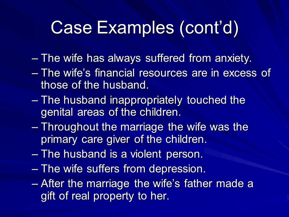 Case Examples (cont'd)