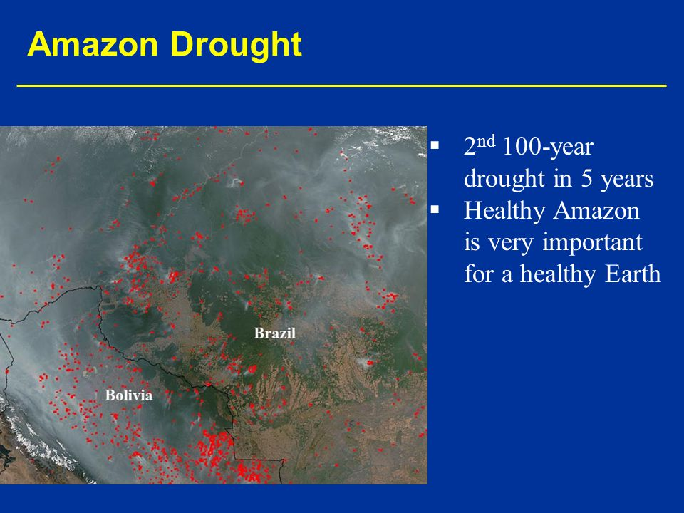 Amazon Drought 2nd 100-year drought in 5 years