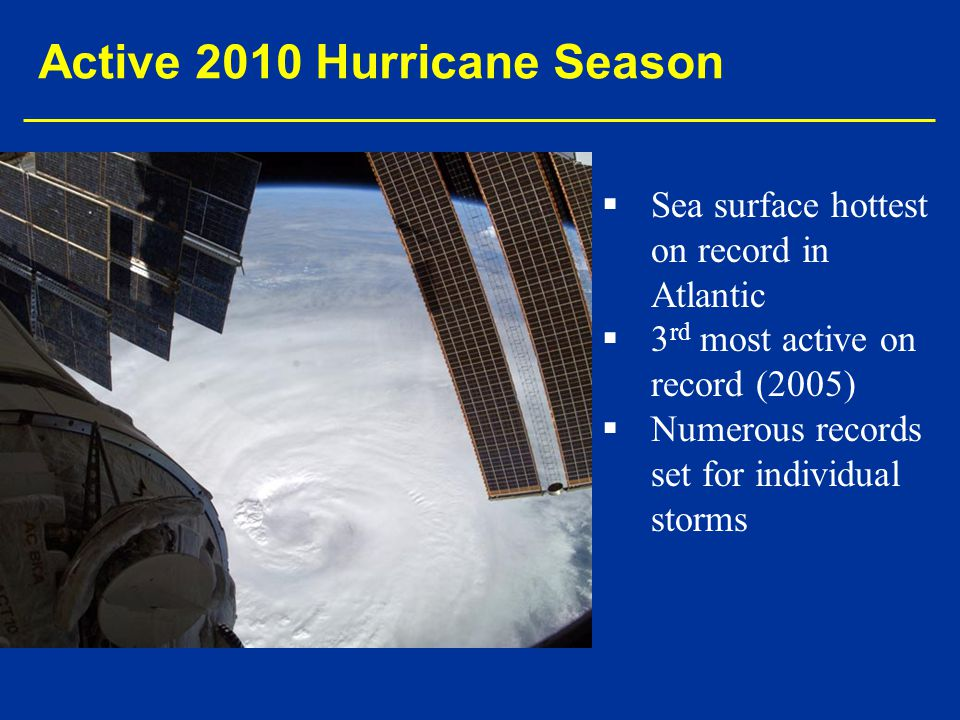 Active 2010 Hurricane Season