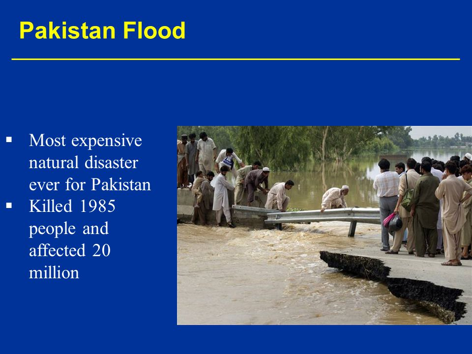Pakistan Flood Most expensive natural disaster ever for Pakistan
