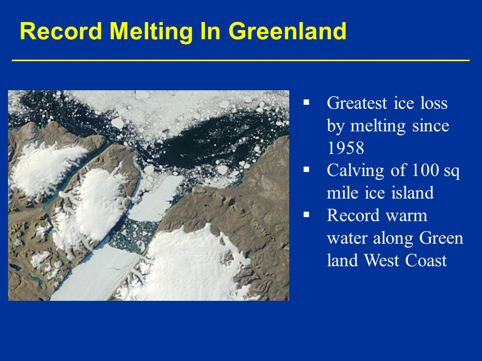 Record Melting In Greenland
