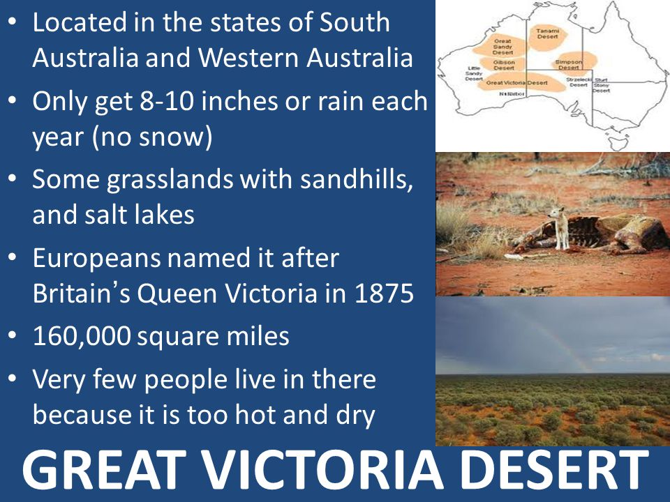 Located in the states of South Australia and Western Australia