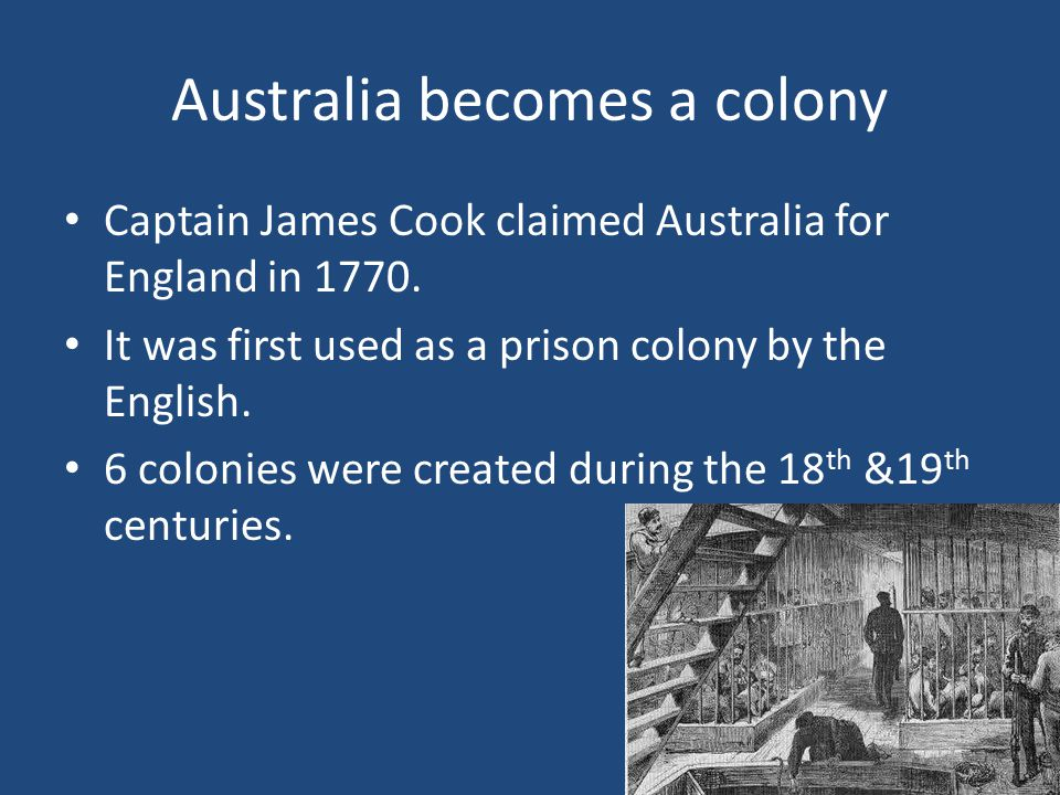 Australia becomes a colony