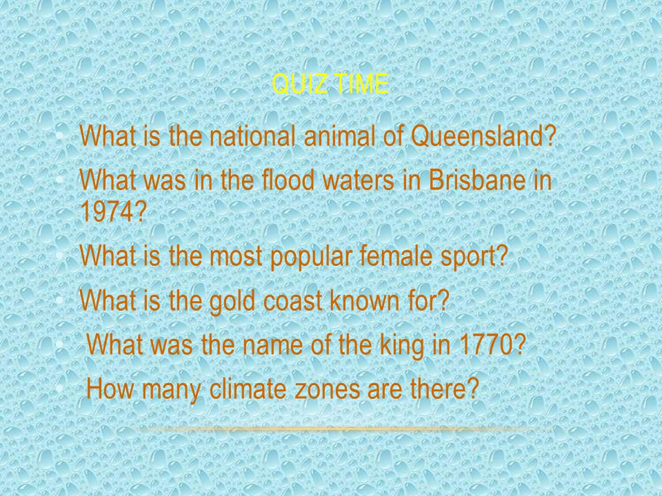 What is the national animal of Queensland