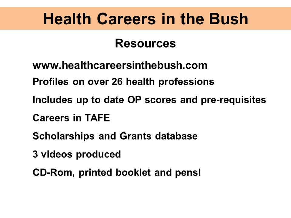 Health Careers in the Bush