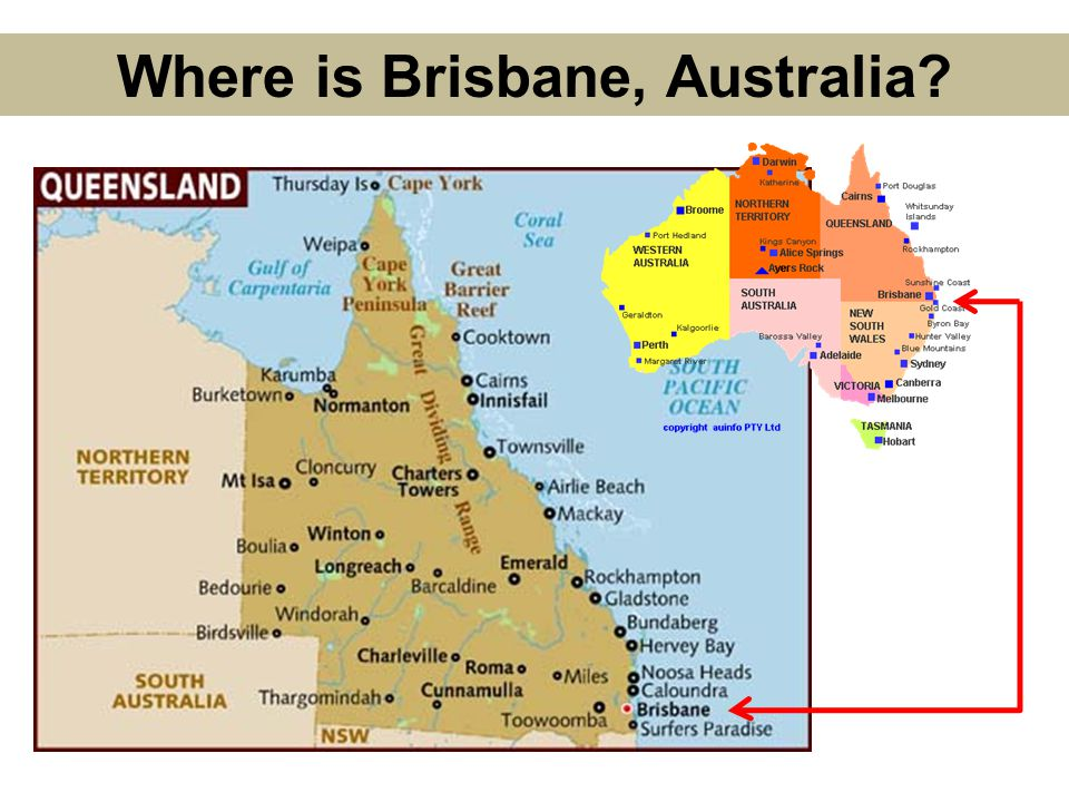 Where is Brisbane, Australia