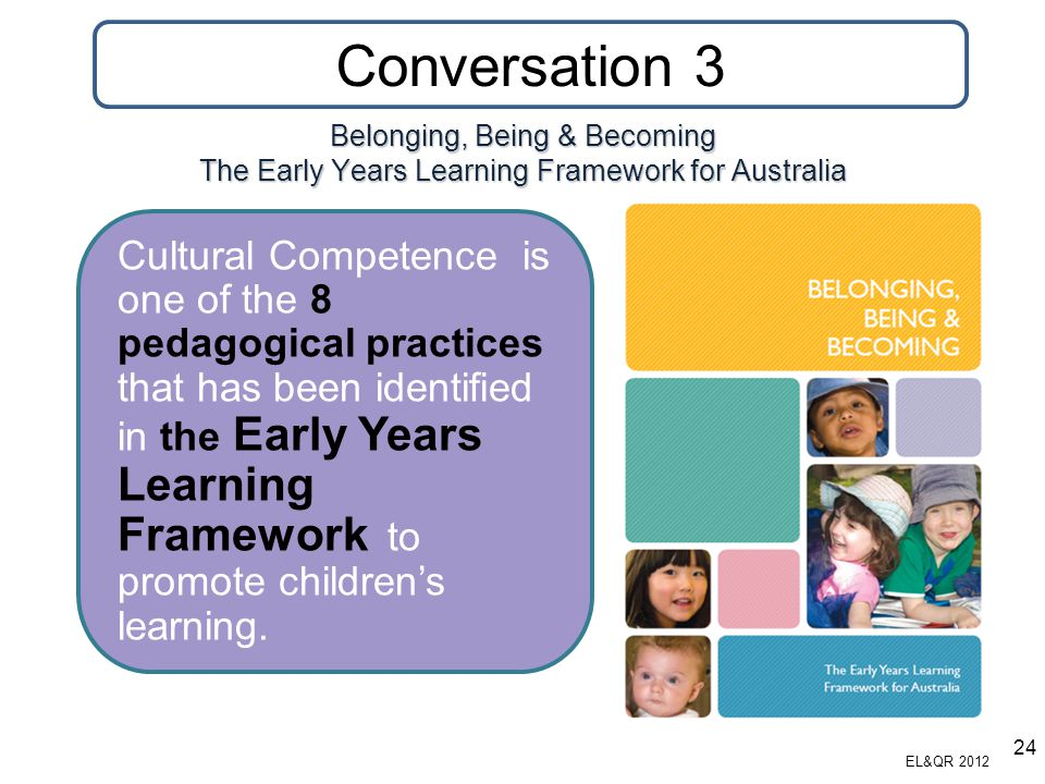 Conversation 3 Belonging, Being & Becoming The Early Years Learning Framework for Australia.