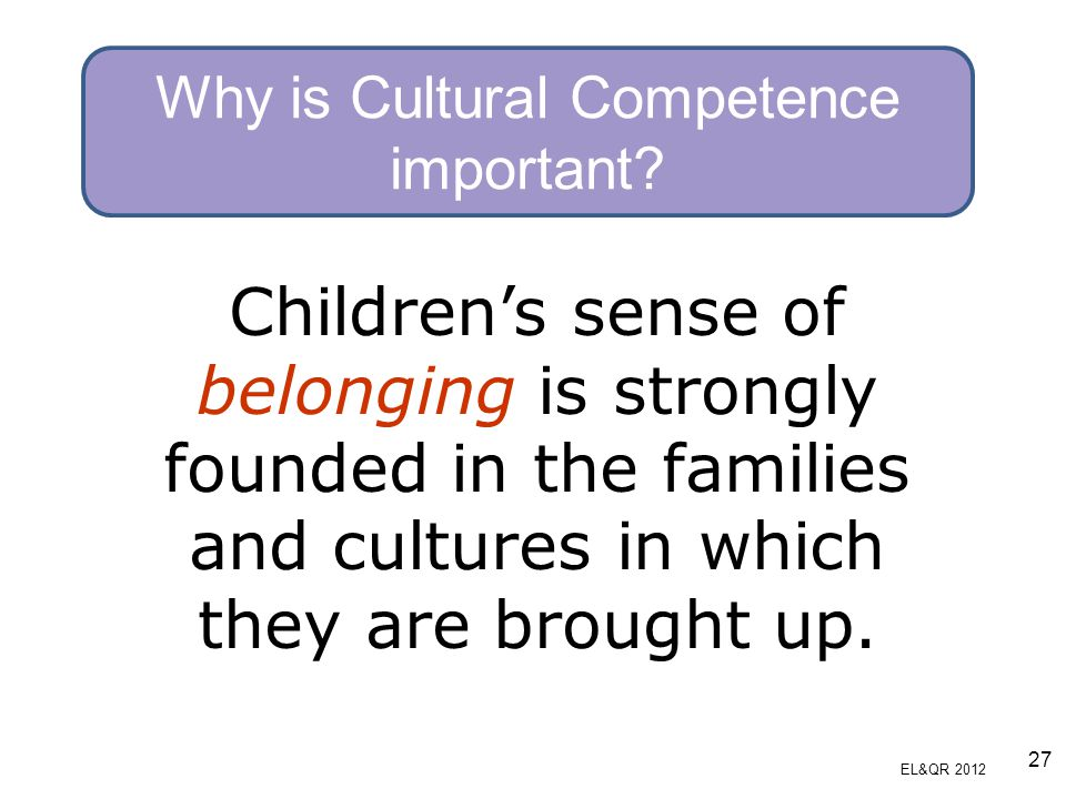 Why is Cultural Competence important