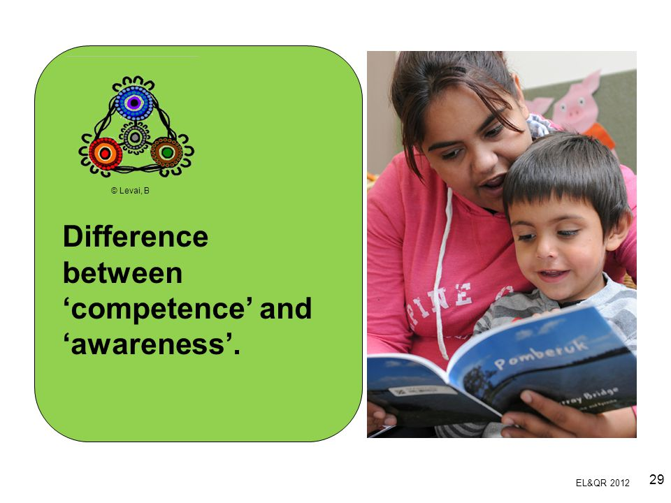 Difference between 'competence' and 'awareness'.
