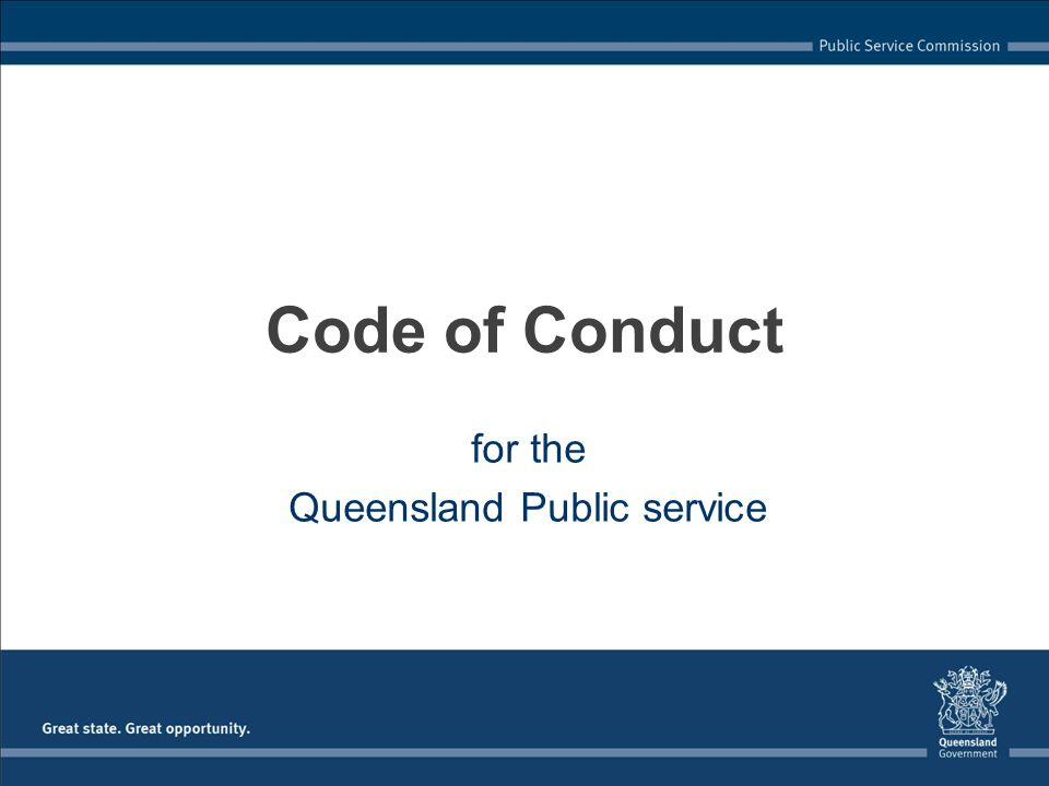 for the Queensland Public service