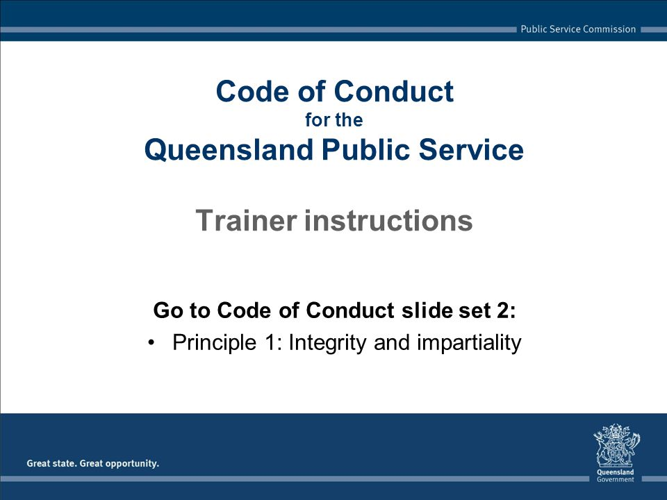 11 code of conduct a set