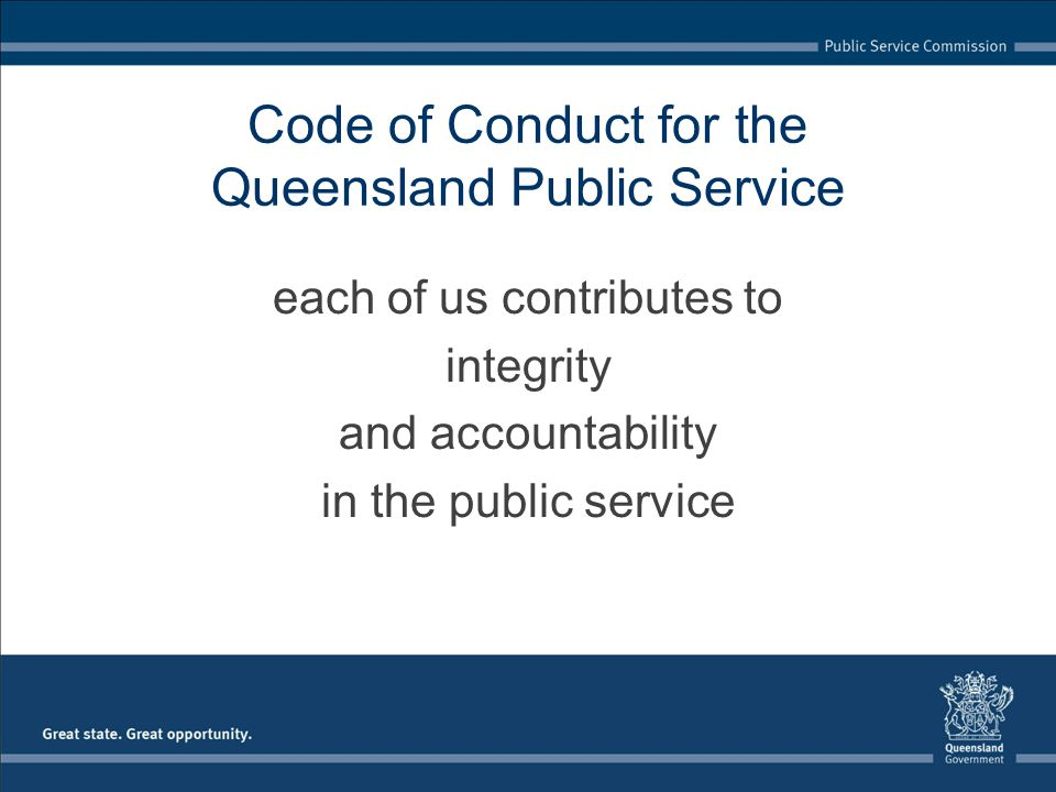 Code of Conduct for the Queensland Public Service