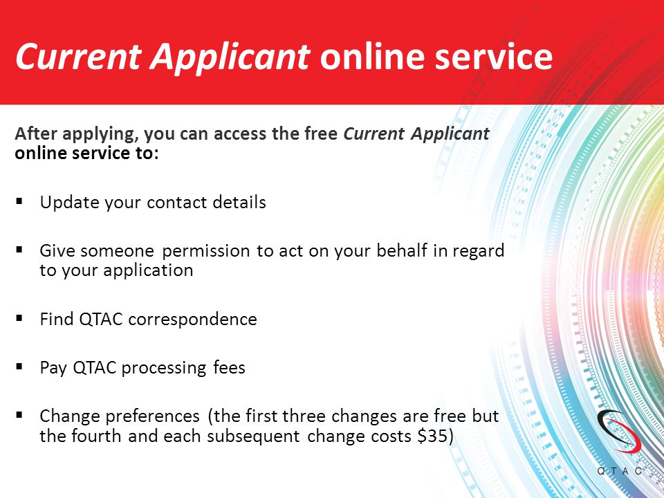 Current Applicant online service