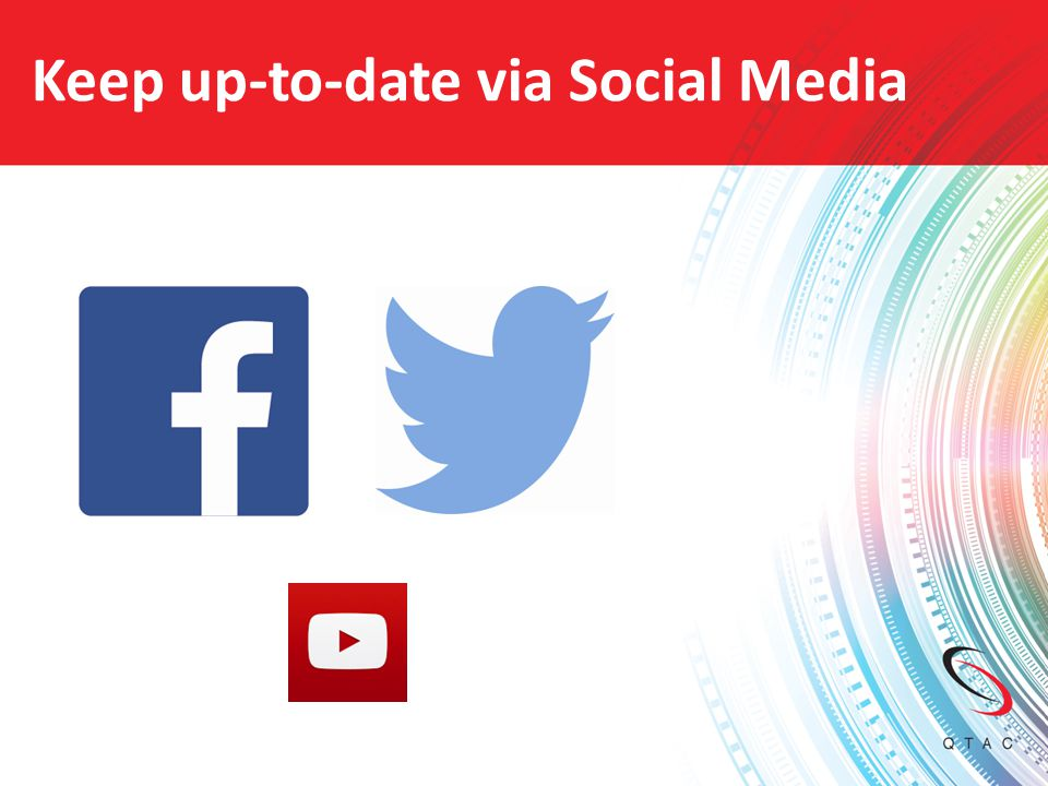 Keep up-to-date via Social Media