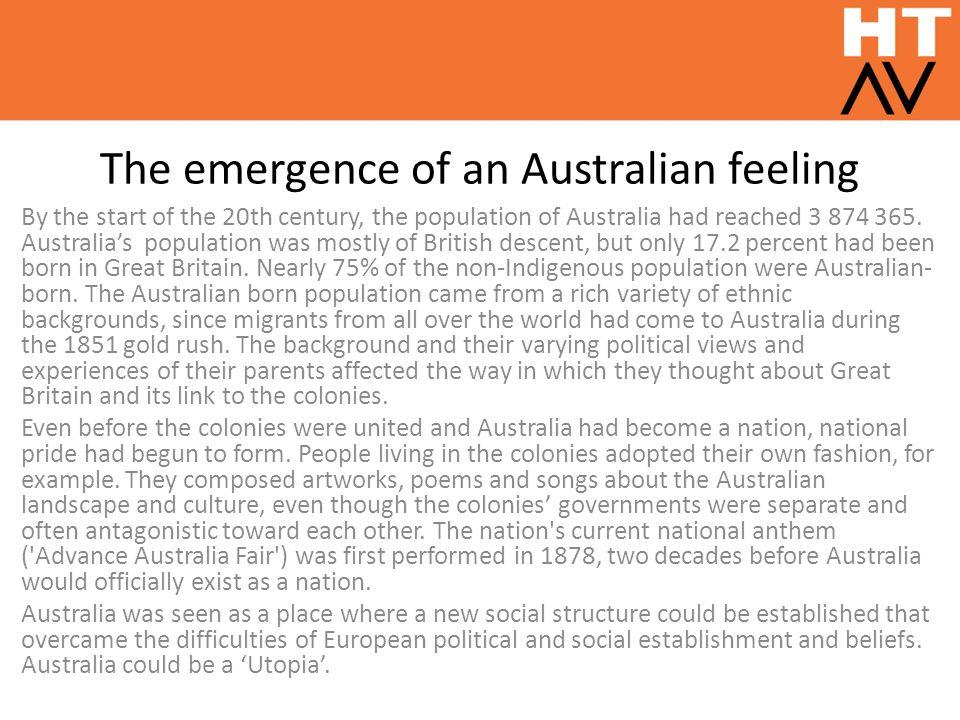 The emergence of an Australian feeling