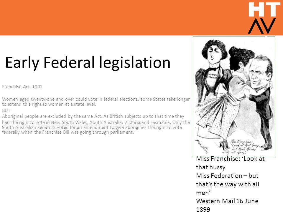 Early Federal legislation