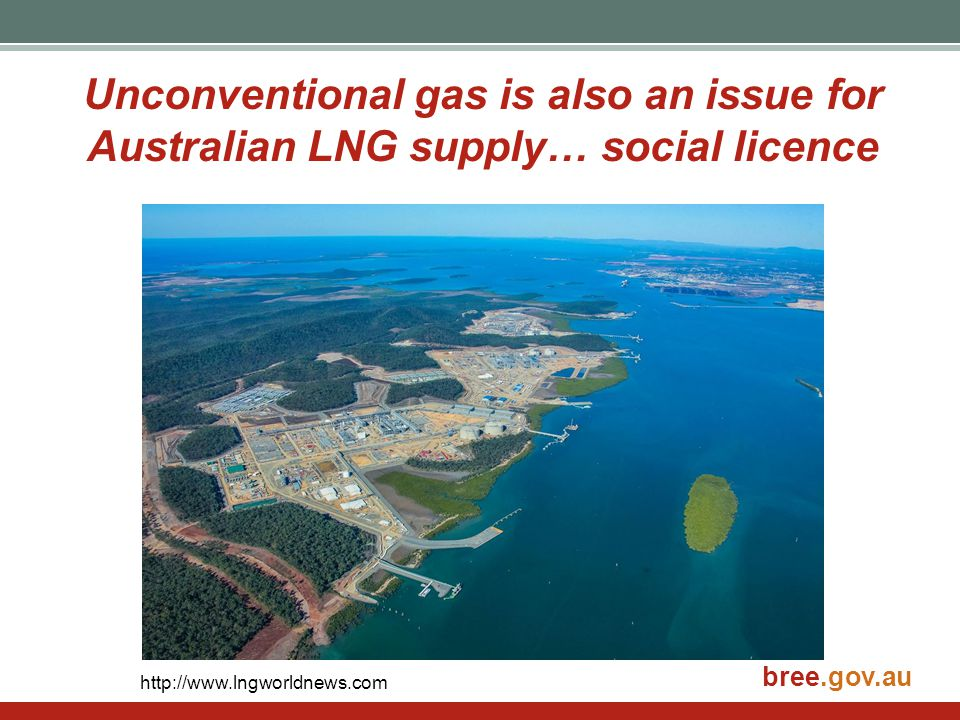 Unconventional gas is also an issue for Australian LNG supply… social licence