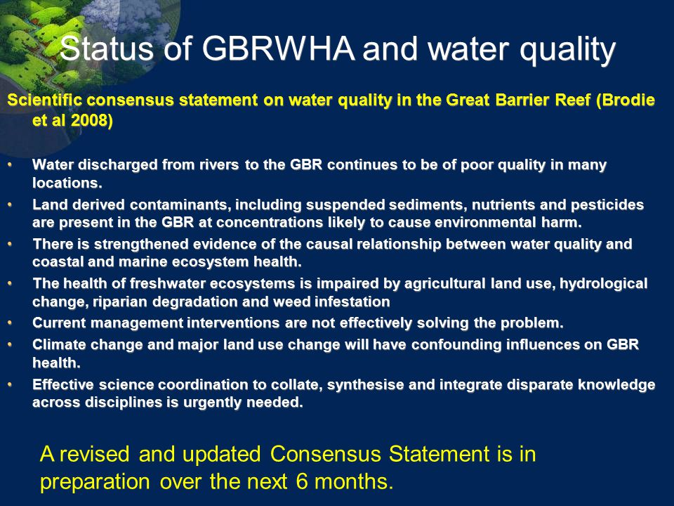 Status of GBRWHA and water quality