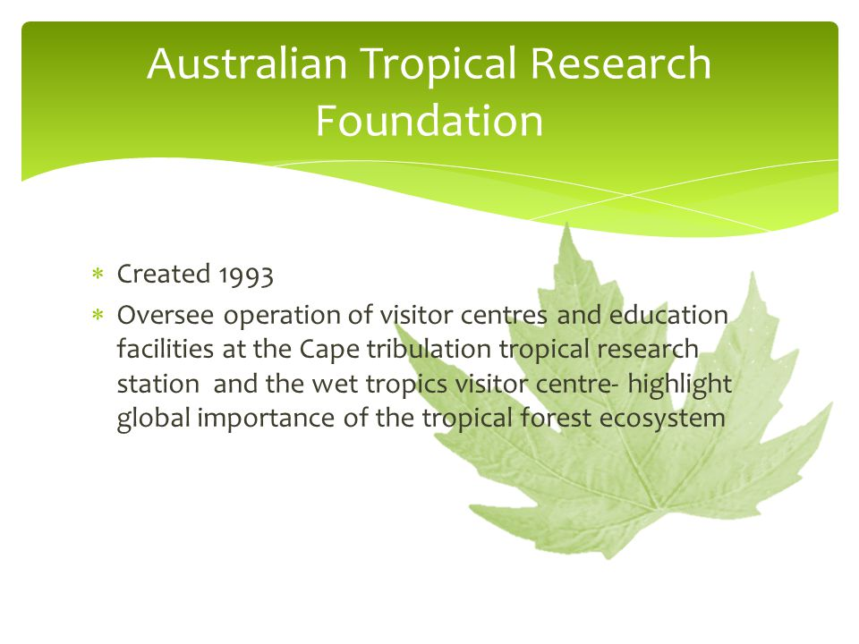 Australian Tropical Research Foundation
