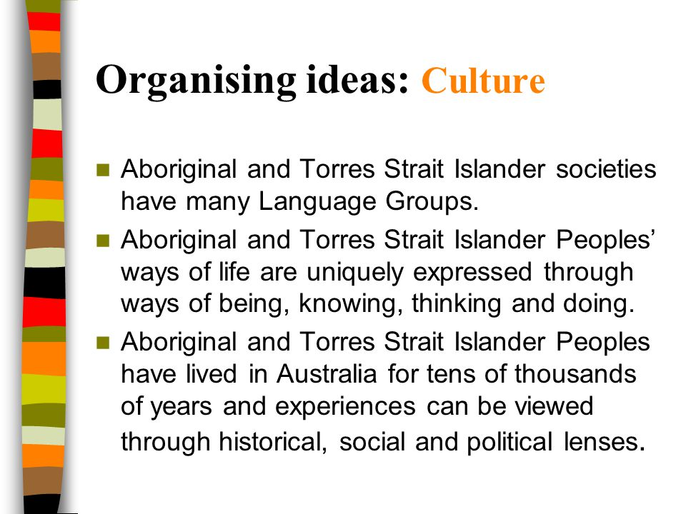 Organising ideas: Culture