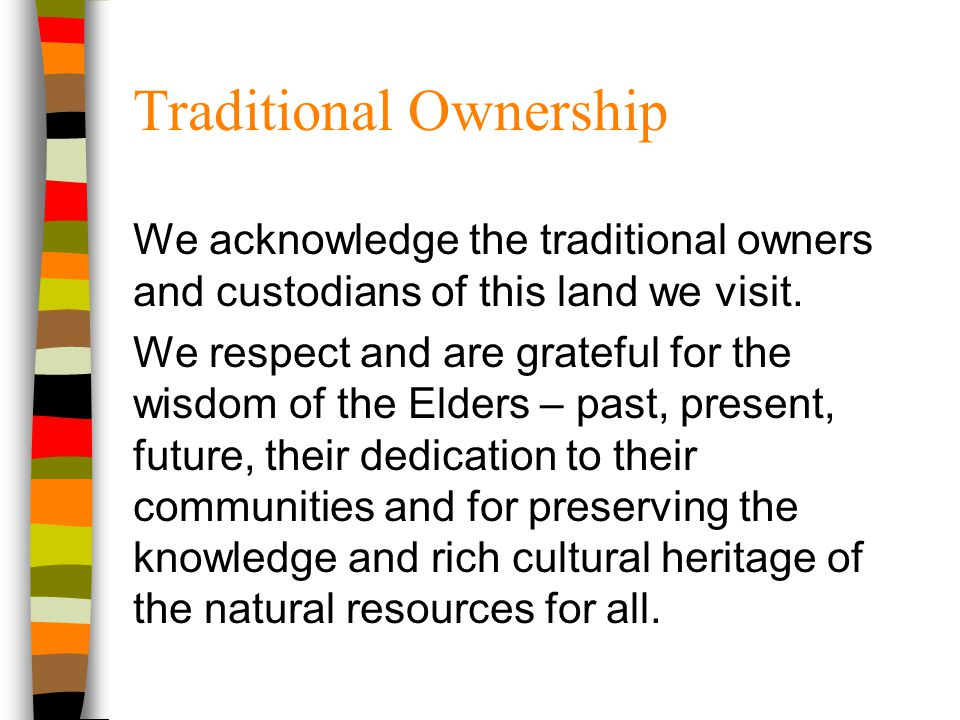 Traditional Ownership