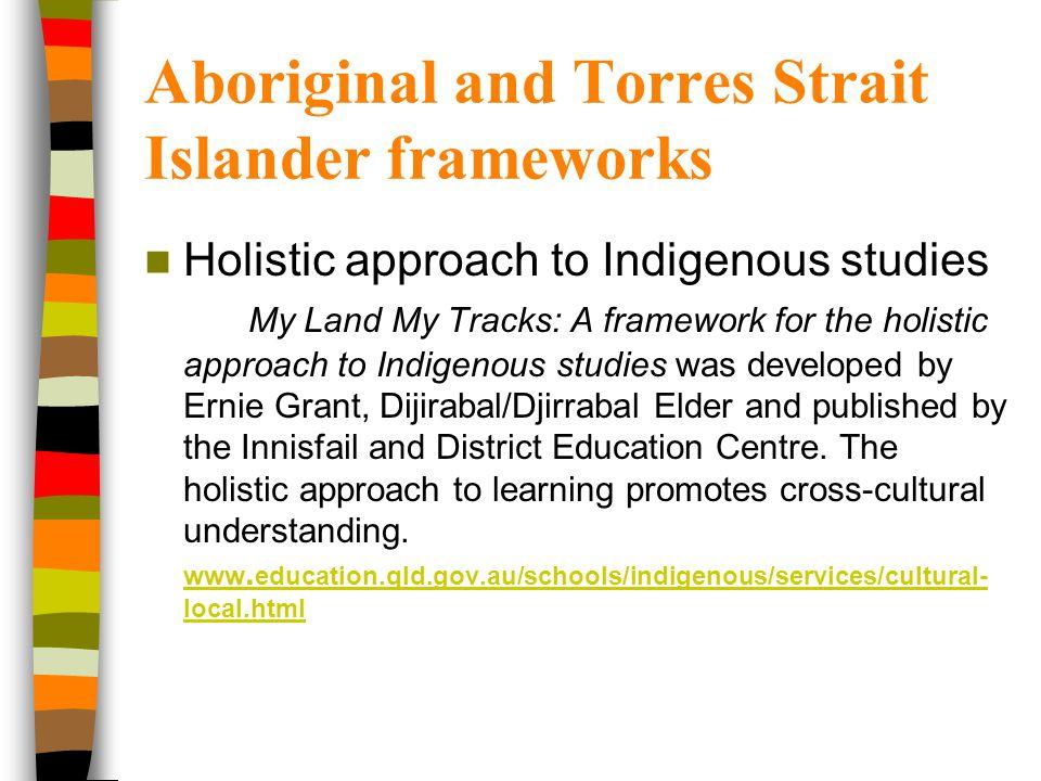 Aboriginal and Torres Strait Islander frameworks