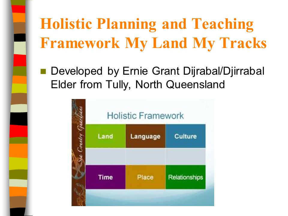 Holistic Planning and Teaching Framework My Land My Tracks