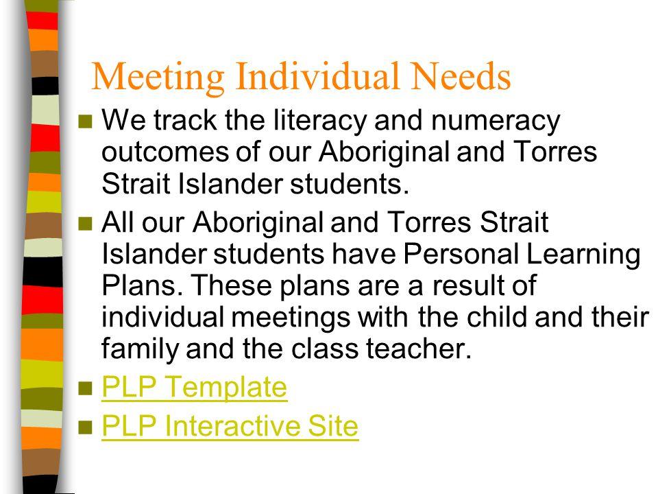 Meeting Individual Needs