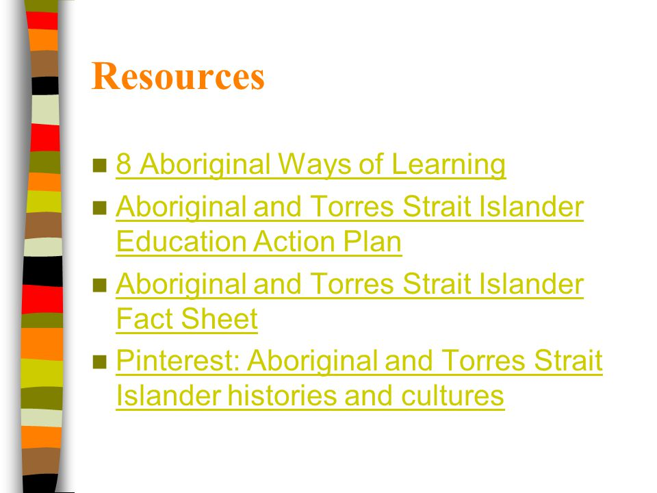 Resources 8 Aboriginal Ways of Learning