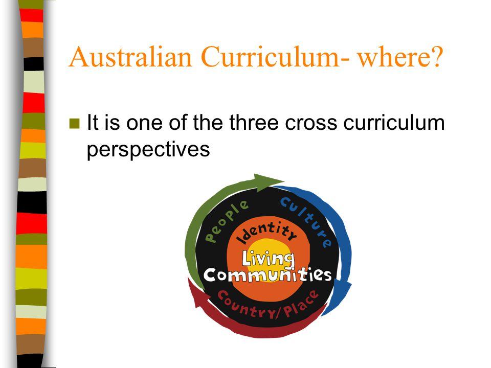 Australian Curriculum- where