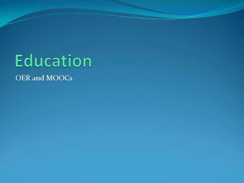 Education OER and MOOCs