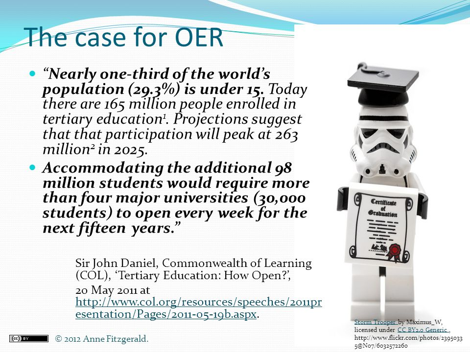 The case for OER