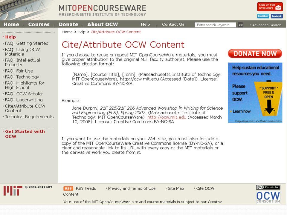BY NC SA 3.0 US http://ocw.mit.edu/terms/#cc
