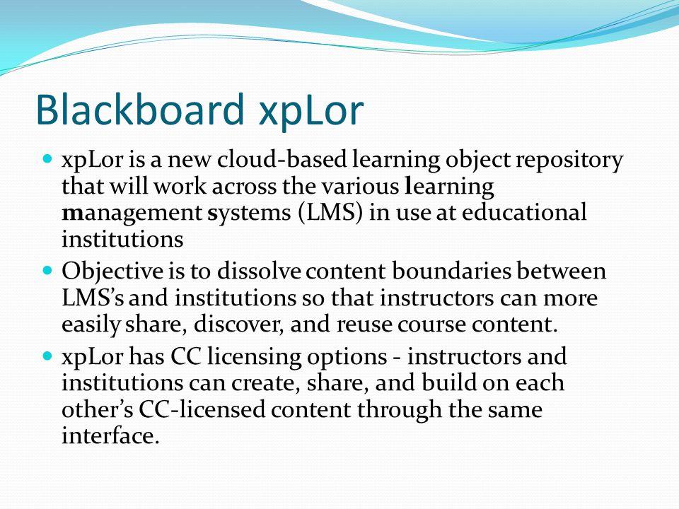 Blackboard xpLor