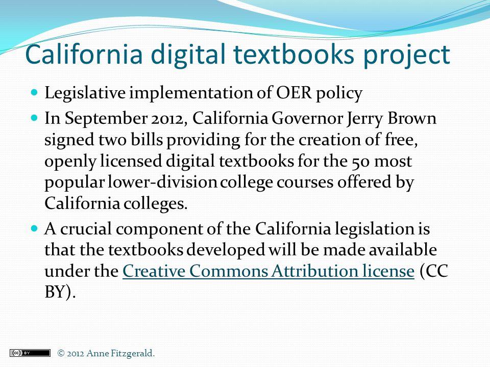 California digital textbooks project