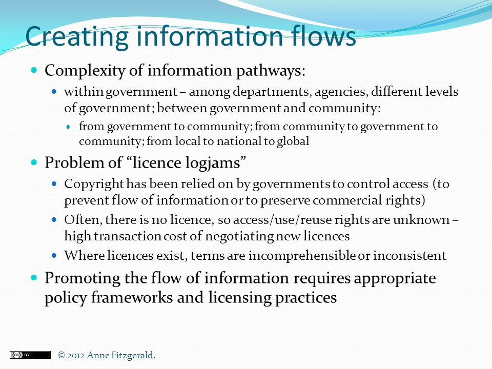 Creating information flows