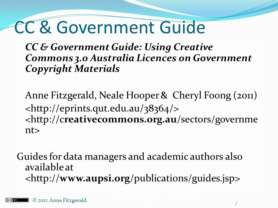 CC & Government Guide