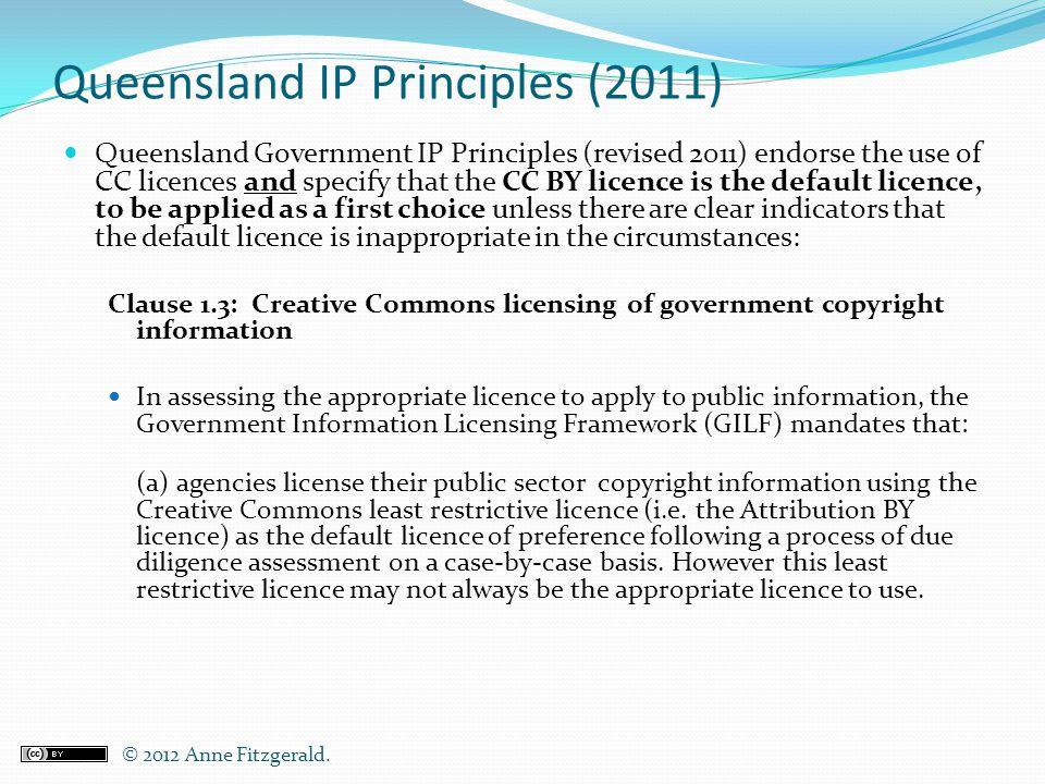 Queensland IP Principles (2011)