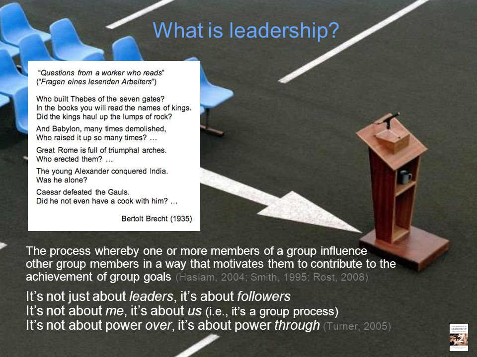 What is leadership It's not just about leaders, it's about followers