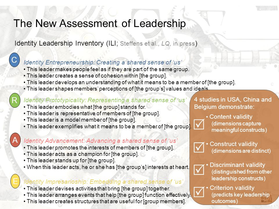     The New Assessment of Leadership C R A E