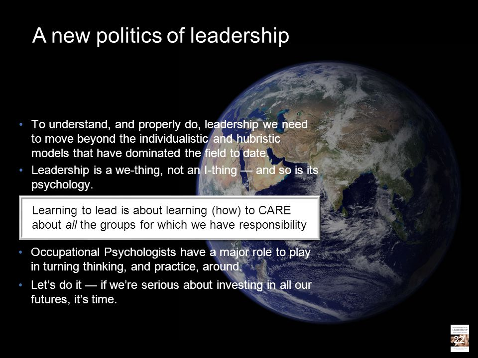A new politics of leadership