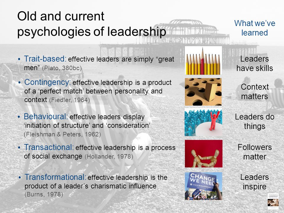 Old and current psychologies of leadership