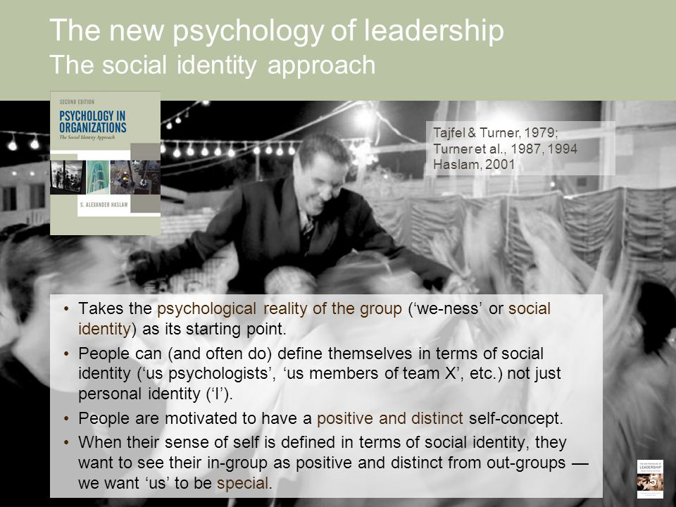The new psychology of leadership The social identity approach