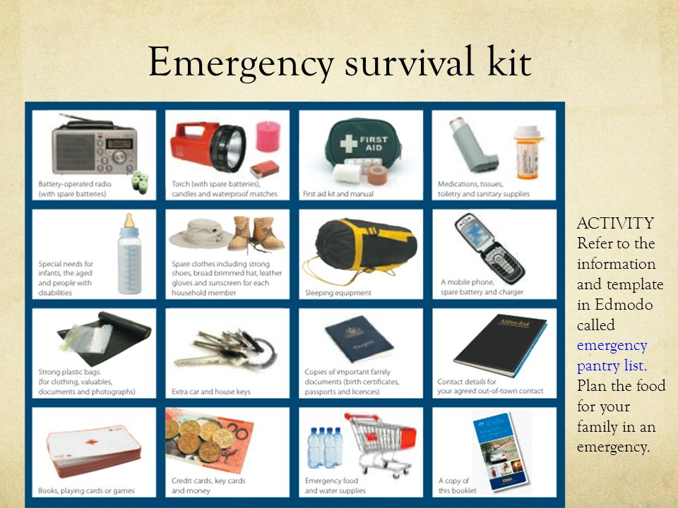 Emergency survival kit
