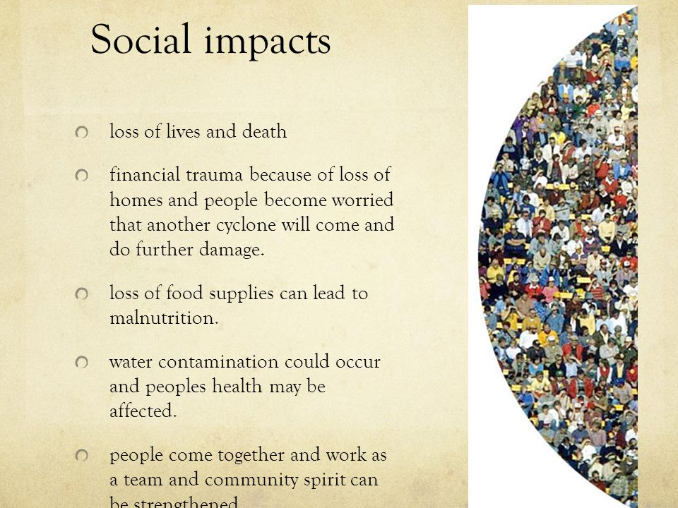 Social impacts loss of lives and death