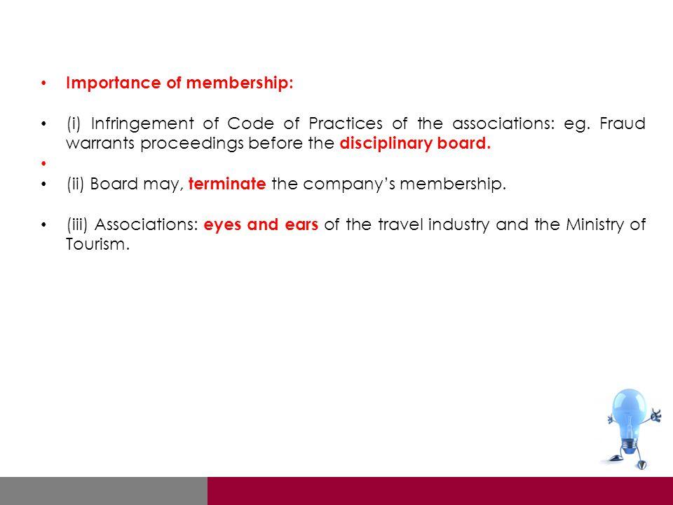 Importance of membership:
