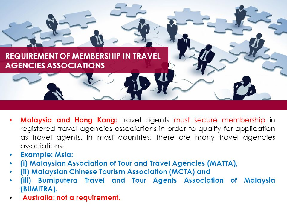 REQUIREMENT OF MEMBERSHIP IN TRAVEL AGENCIES ASSOCIATIONS