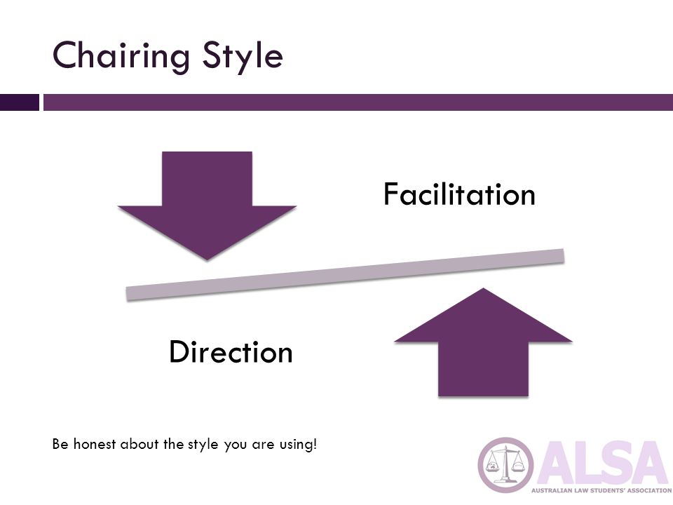 Chairing Style Facilitation Direction